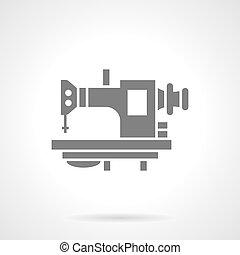 stil, gammal, sömnad maskin, vektor, glyph, ikon