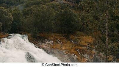 Stil, Gletscher,  briksdal,  -,  cinematic,  en-route, wasserfall,  kleivafossen, norwegen