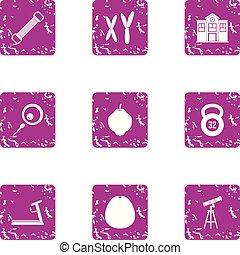 stil, grunge, ikonen, sätta, studera, chromosomal
