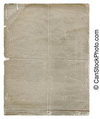 stil, grunge, scrapbooking, papper, bakgrund, isolerat, design, vit