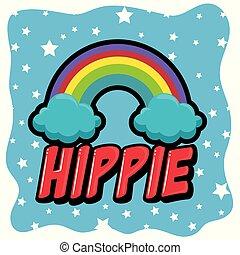 stil, hippie, hintergrund, retro