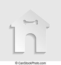 stil, illustration., husdjuret, skylt., papper, hem, icon., omsorg