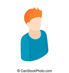 stil, isometrisch, mann, 3d, ikone