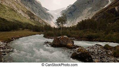 Stil,  josteldalsbreen, Gletscher,  -,  cinematic,  nasjonalpark,  brikdalsbreen, norwegen