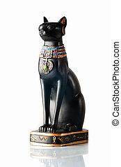 stil, katt, egyptisk
