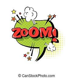 stil, kunst, blase, text, zoom, knall, vortrag halten , unterhaltung, komiker, ausdruck, ikone