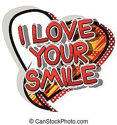 stil, liebe, word., -, buch, lächeln, komiker, dein