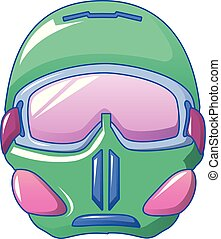 stil, maske, schwimmbrille, ikone, snowboarding, karikatur