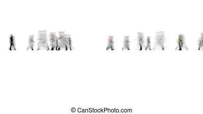 stil, menschenmasse, bewegungszittern, weißes