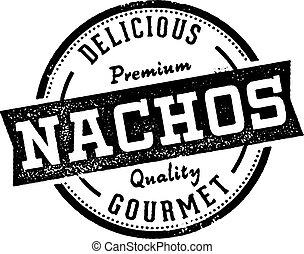 stil, mexikanare, stämpel, årgång, meny, nachos