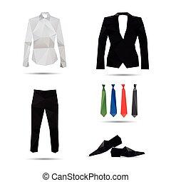stil, mode, hintergruende, freigestellt, weißes, mann