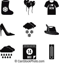 stil, mode, satz, einfache , kleidung, ikone