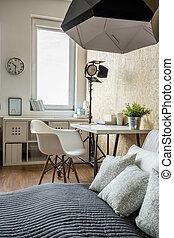 stil, modern, schalfzimmer