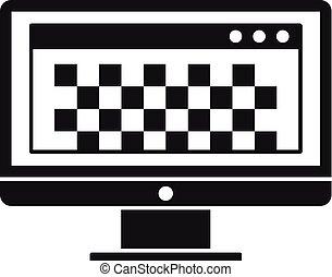 stil, redaction, enkel, foto, desktop dator, ikon