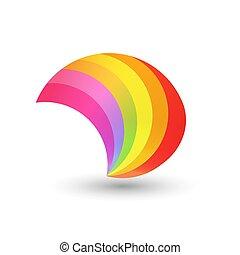 stil, regenbogen, form