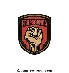 stil, revolution, plakat, angehoben, luft, faust, propaganda