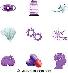 stil, satz, krankheit, alzheimer, karikatur, ikone