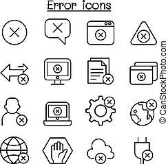 stil, satz, schlanke, fehler, linie, ikone