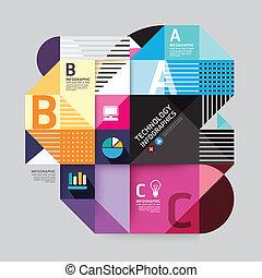 stil, sein, oder, buechse, minimal, modern, template., website, .graphic, infographics, vektor, infographic, design, gebraucht, plan