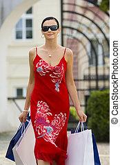 stil, shoppen, europäische