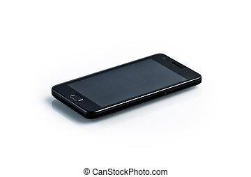 stil, smartphone, zubehörteil, -, schwarz, galaxie