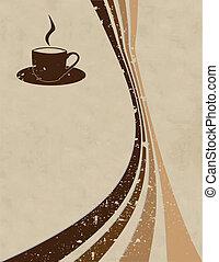 stil, vektor, bohnenkaffee, hintergrund