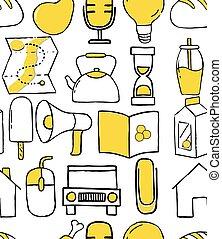 stile, ícone, doodle, jogo