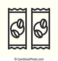 stile, 3, editable, caffè, relativo, 1, colpo, vettore, linea, icona