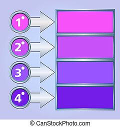 stile, affari, versions, canzonare, moderno, illustrazione, fondo, origami, bandiera, opzioni