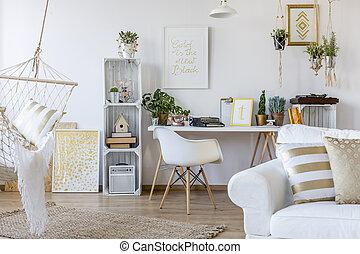 stile, appartamento, scandinavo