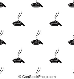 stile, ashtray., simbolo, sigaro, web., illustrazione, sigari, singolo, vettore, nero, fumo, icona, casato