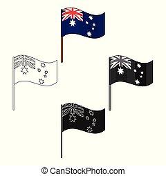 stile, australia, illustration., cartone animato, simbolo,...