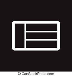 stile, bandiera, nero, bianco, arabo, icona