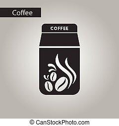 stile, bianco, caffè nero, pacchetto