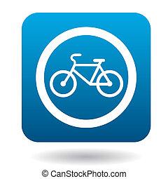 stile, bicicletta, semplice, segno, icona, percorso