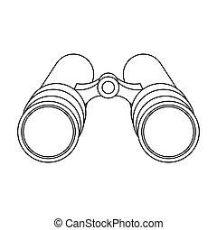stile, bitmap, icona, simbolo, contorno, busta, singolo, lettera, inside.a, detective.detective, casato, illustration.