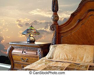 stile, camera letto, classico