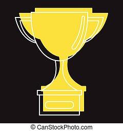 stile, campione, oro, icone, scarabocchiare, tazza, premio, vettore, disegno, illustrazione