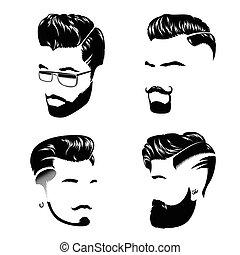 stile capelli, collezione, uomo