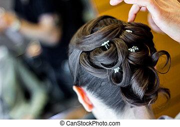 stile capelli, matrimonio