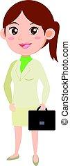 stile, carattere, affari, collezione, donne