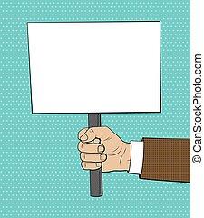stile, cartellone, comico, illustrazione, mano