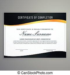 stile, certificato, moderno, illustrazione, muxury, vettore,...