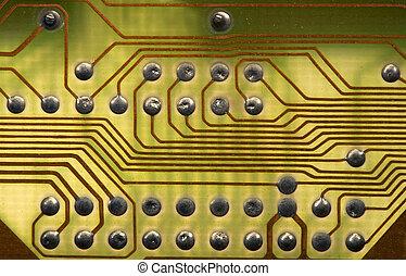 stile, ciao-tecnologia, fondo, circuitboard