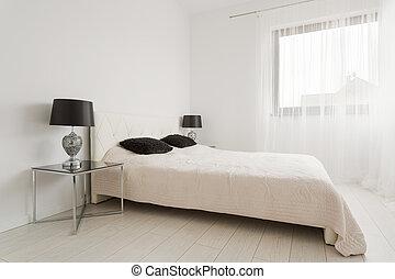stile, classico, camera letto