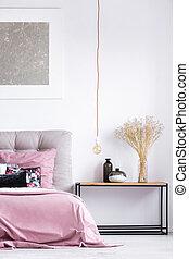 stile, classico, nightstand, camera letto