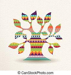 stile, colorito, albero, forma, disegno, divertimento, geometrico