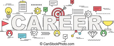 stile, concetto, carriera, illustrazione, crescita, linea