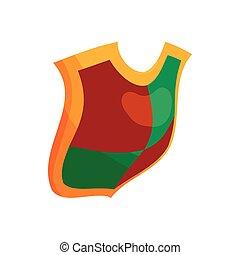 stile, concetto, scudo, protezione, icona, cartone animato