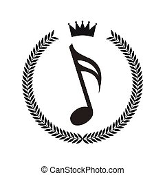 stile, cornice, ghirlanda, nota, hipster, musica